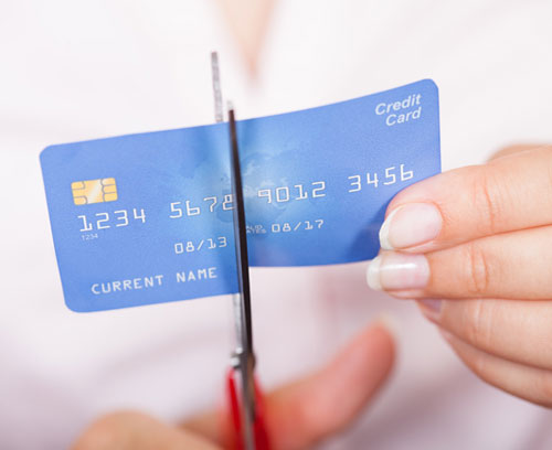 Stop credit card debt.