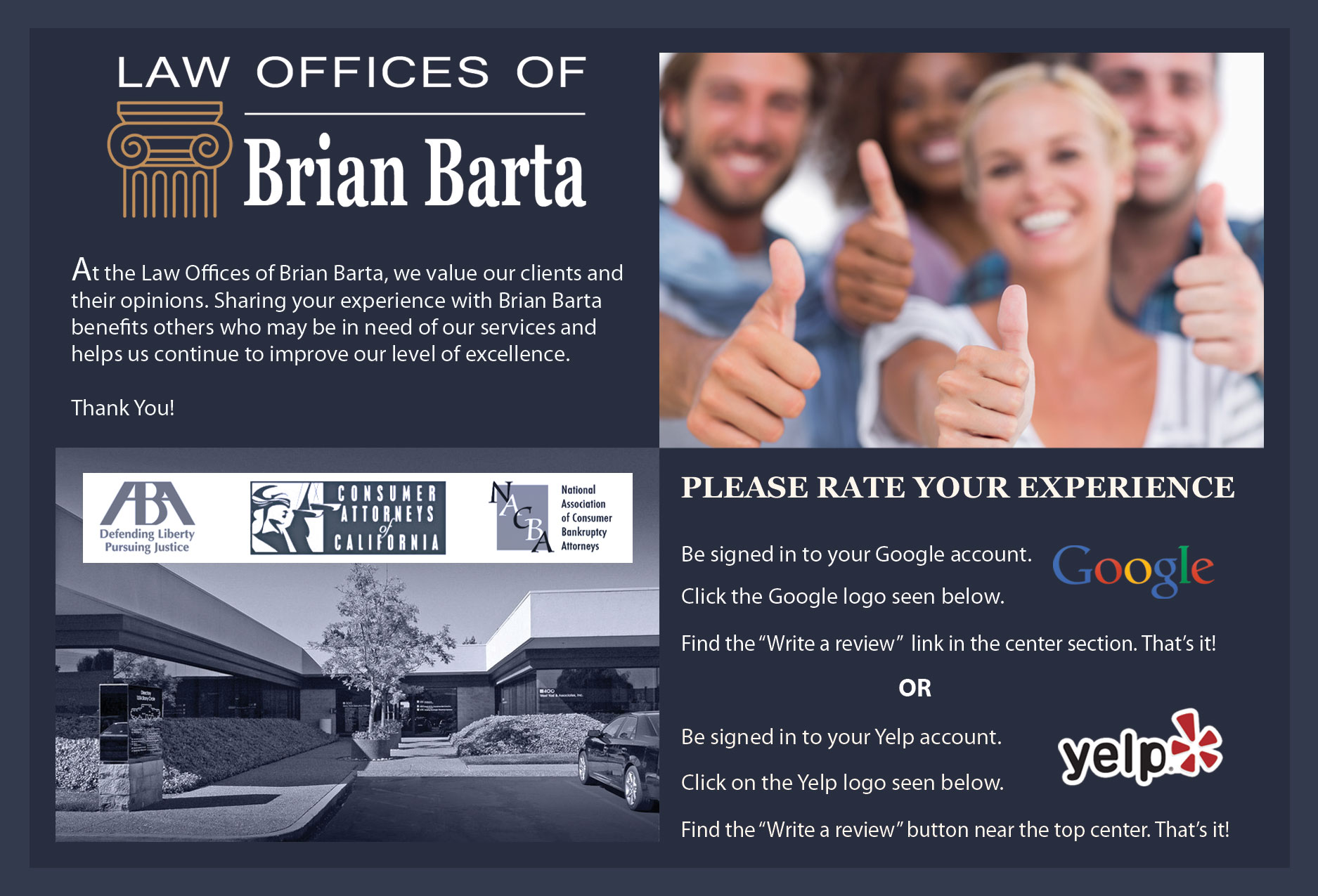 Review bankruptcy attorney Brian Barta